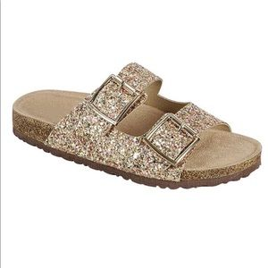 ***PRICE IS FIRM*** Gold Slippers/Sandals